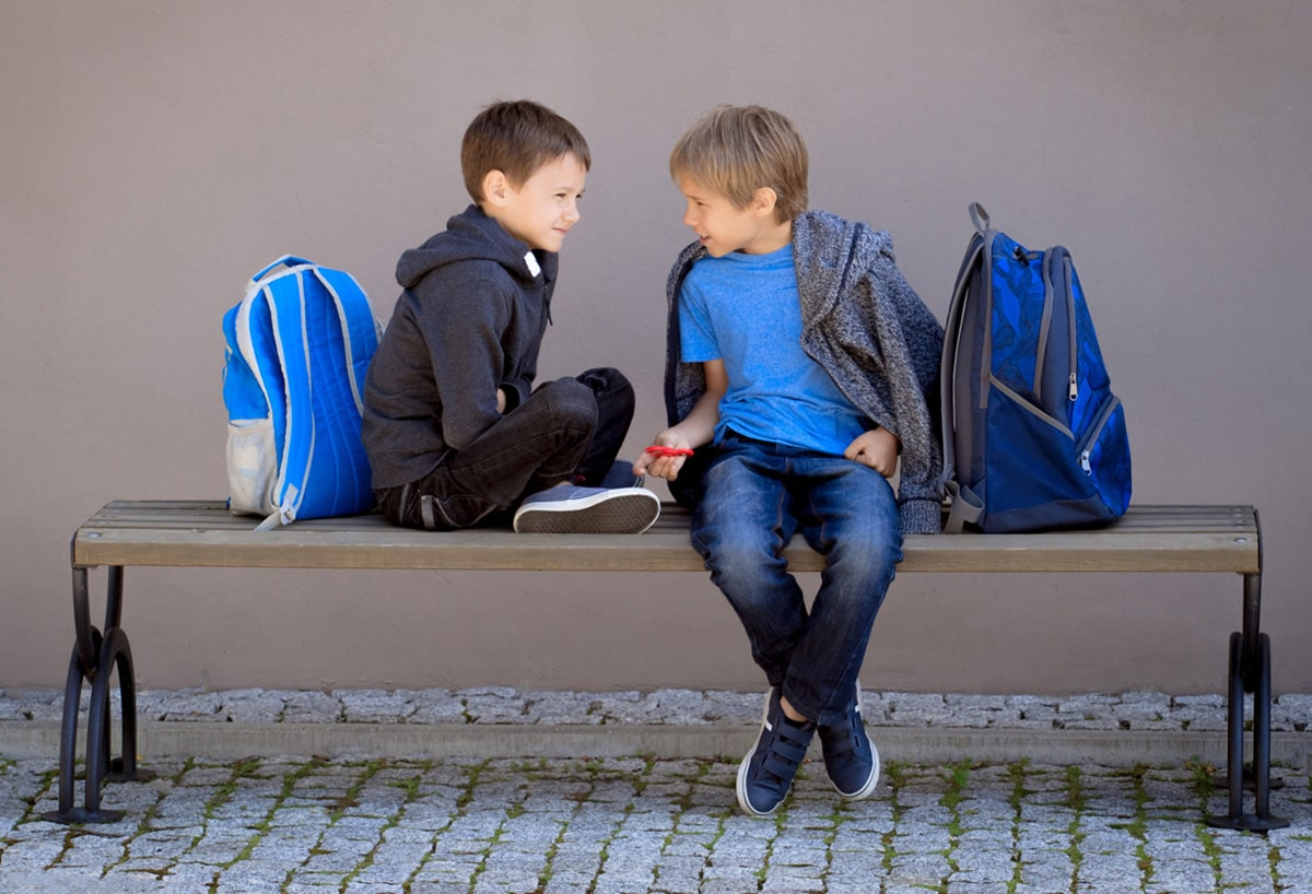 Éducation,Élémentaire,École primaire deux enfants